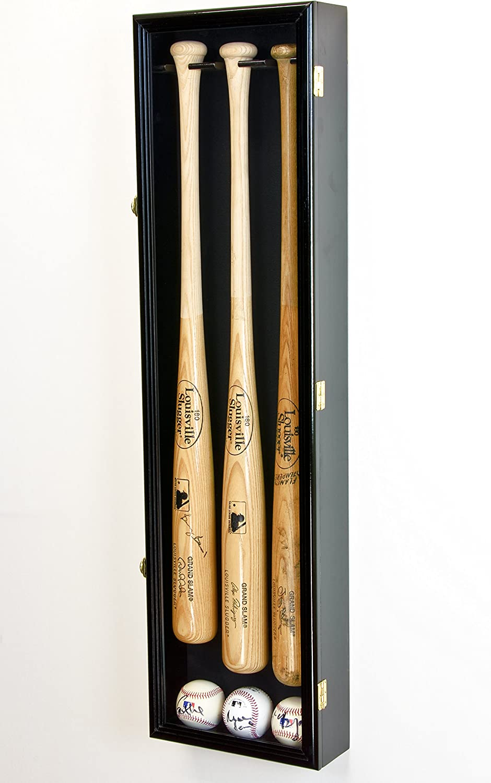 Black Baseball Bat Display Hanger Holder Wall Mount Rack Mounting Kit ABS U4W3