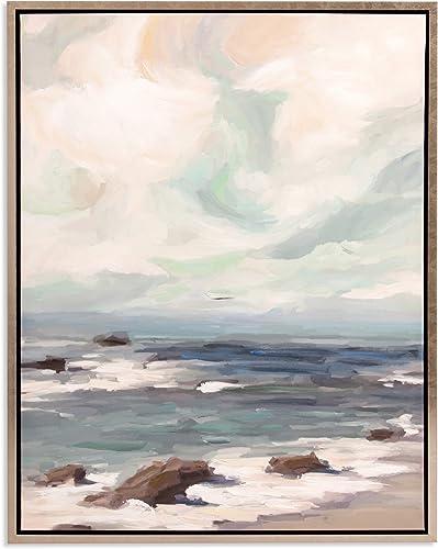 Patton Wall Decor Stormy Shore Coastal Framed Canvas Art