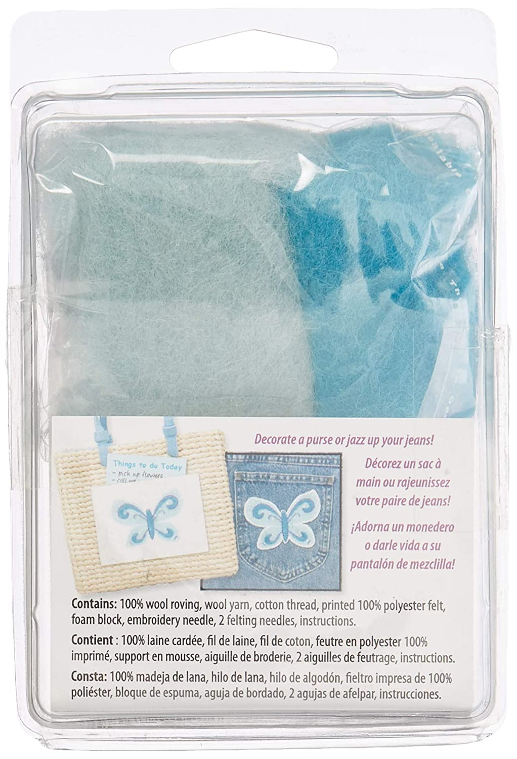 Amazon.com: Dimensions Needlecrafts Feltworks Butterfly Felt Kit