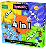 Green Board Games 91011 BrainBox 4 in 1 Cities, Sport, Nature and Space