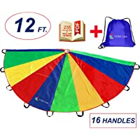 VOMLine Parachute 12 Foot with Smudge Resistant-Handles, Proper Selection of Matching Colors On The Basis of Experimental Color Testing, with High-Grade Stitching