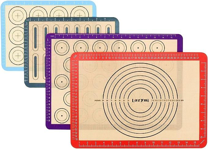 40 /× 60 cm Tapis /à T/âtisserie pour Cookie//G/âteau//Pizza//Pain pour Famille BaoWnylz Tapis de Cuisson Silicone Patisserie avec Fonction de Mesure Plaque Silicone Patisserie r/ésistant /à la Chaleur