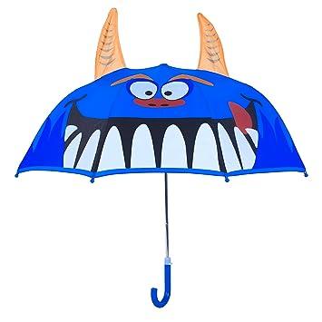 Rainbrace Paraguas infantil burbuja para niño/niña,monstruo