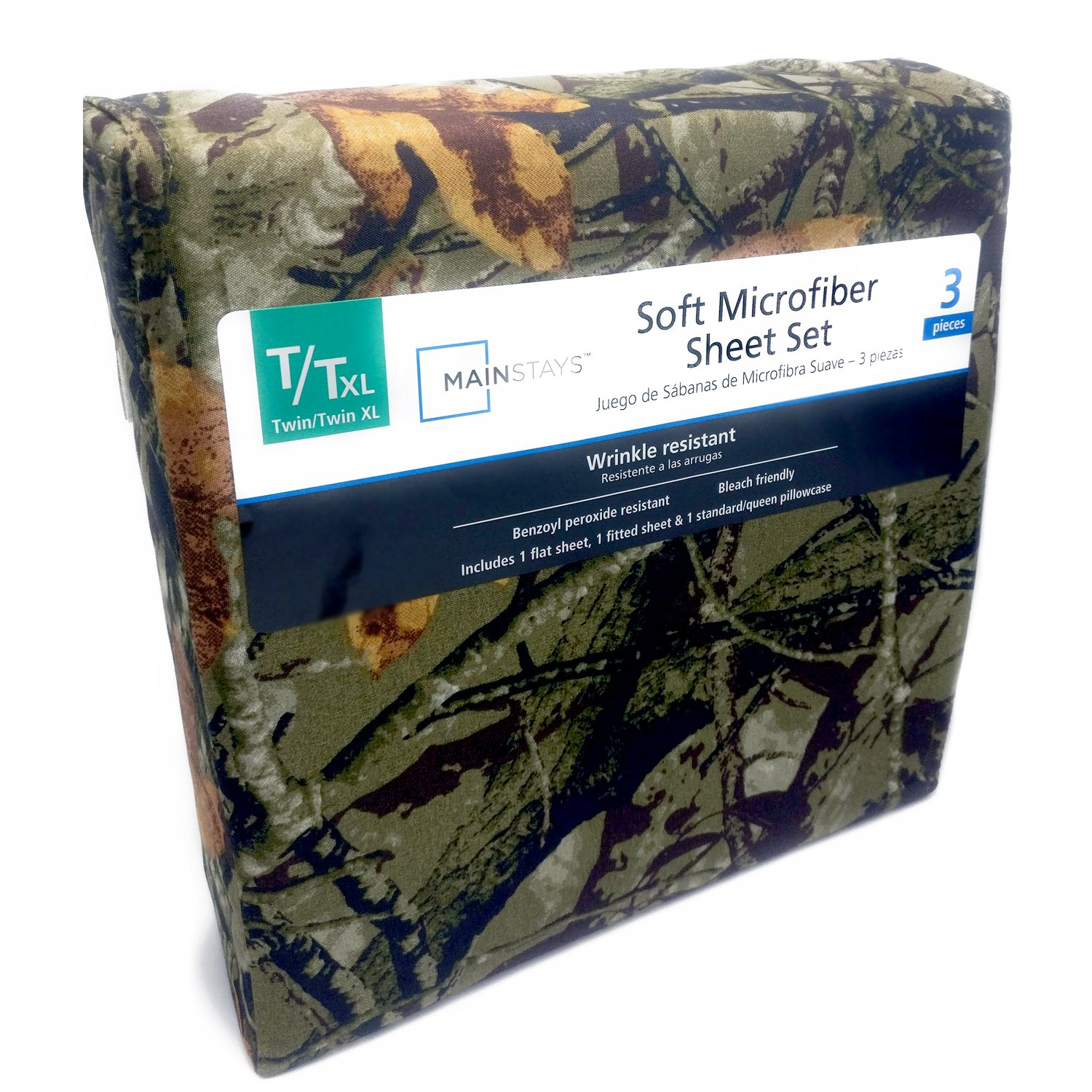 Camouflage Print Microfiber Twin Sheet Set (3 Pc Set)