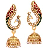 Voylla Metal Dangle and Drop Earrings for Women(Gold) (8907275235576)