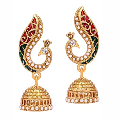 d849274d7 Buy Voylla Metal Dangle and Drop Earrings for Women(Gold) (8907275235576)  Online at Low Prices in India | Amazon Jewellery Store - Amazon.in