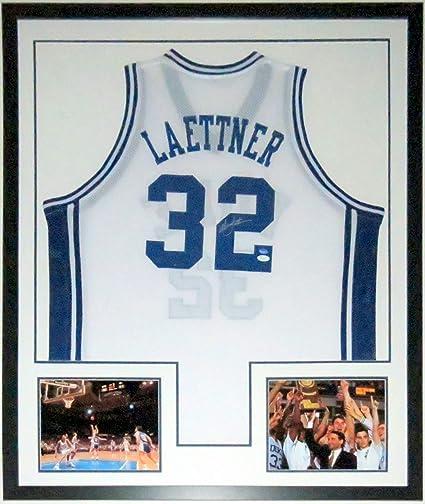 10ccc89fc8e Christian Laettner Signed Duke Blue Devils Jersey - JSA COA Authenticated -  Professionally Framed   Last
