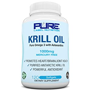 Pure Krill Oil 1000mg with Astaxanthin
