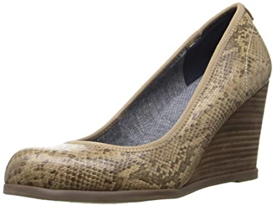 Dr. Scholl's Shoes Women's Penelope Wedge Pump, Stucco Snake, ...