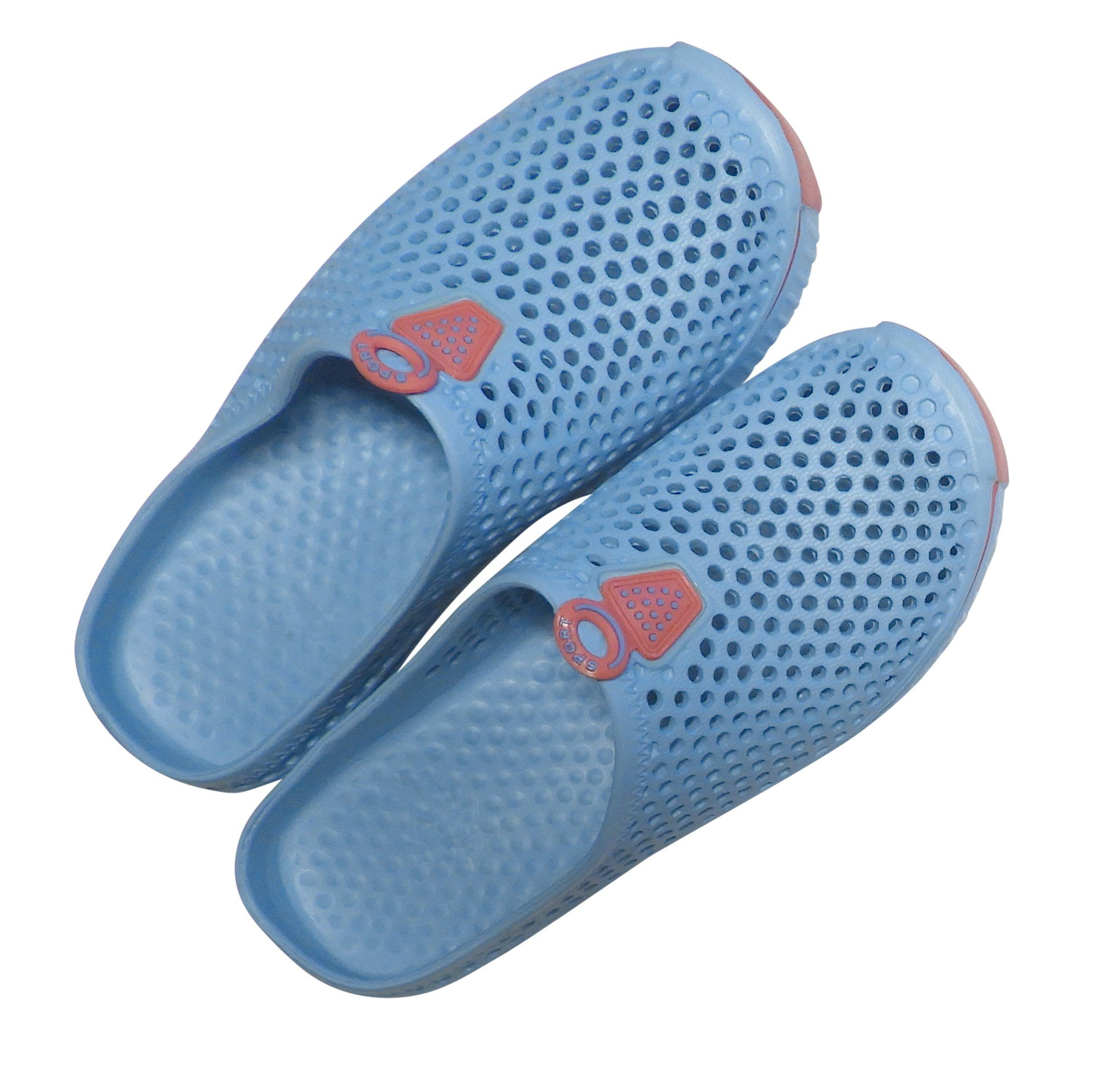 DINY Home & Style Ladies Womens Slip On Sneaker Clogs Sandals (6, Blue)