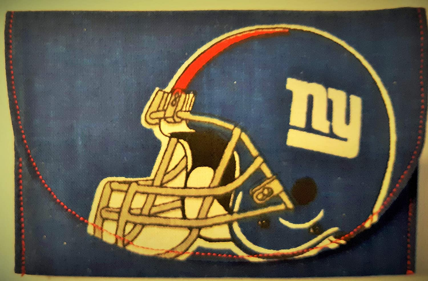 Great Gift. Dollar Bills Holder Gift Card Licensed New York Giants Fabric Credit Card Mini Wallet Business Cards ID