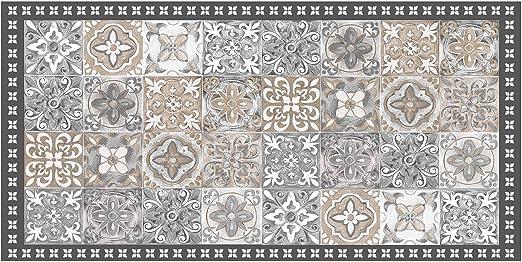 douceur d\'intérieur tapis rectangle 50x100 cm vinyle alicante naturel