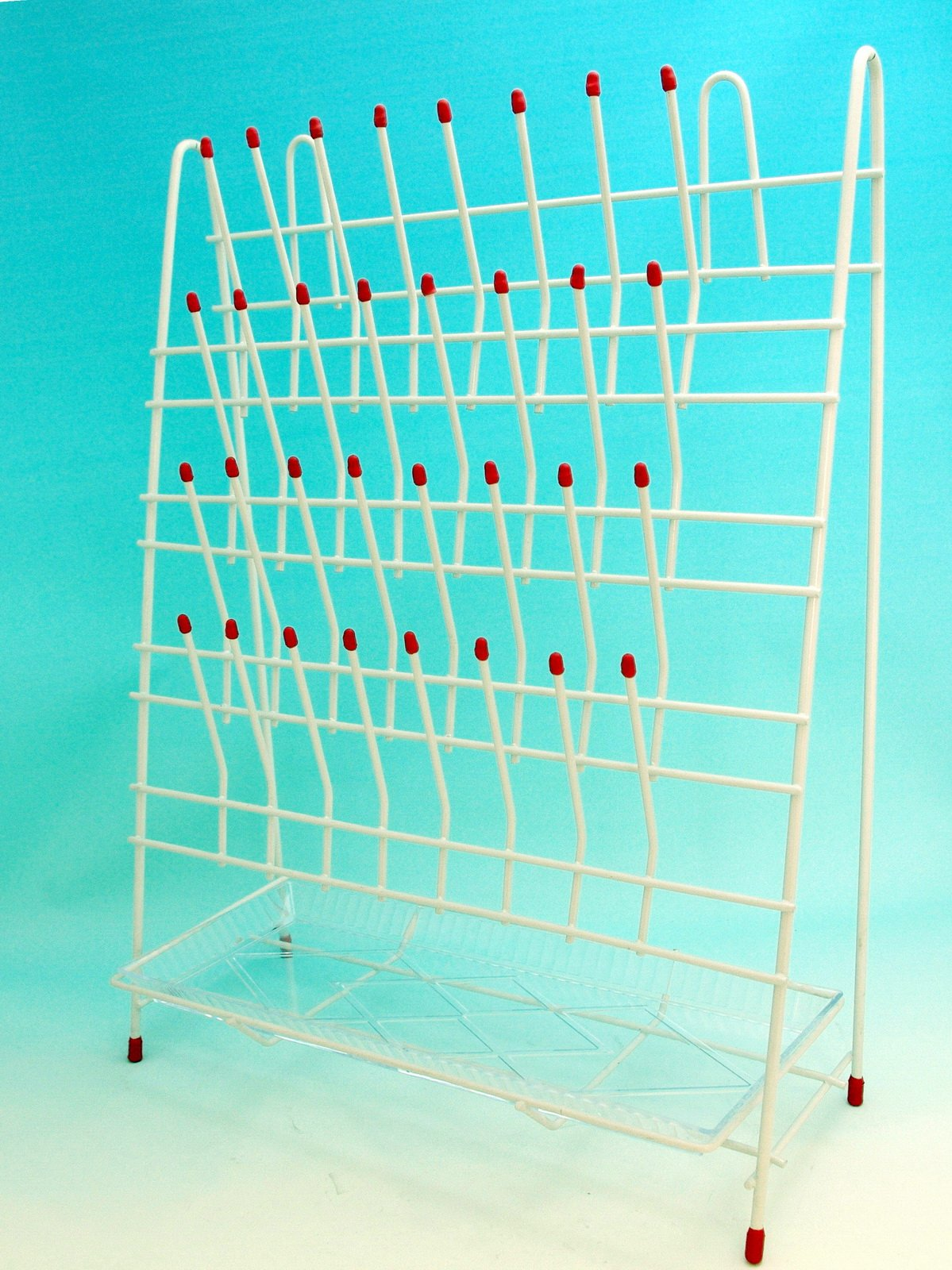 Beyondsupply-laboratory Drying / Draining Rack 55 Pegs with Drain Pan