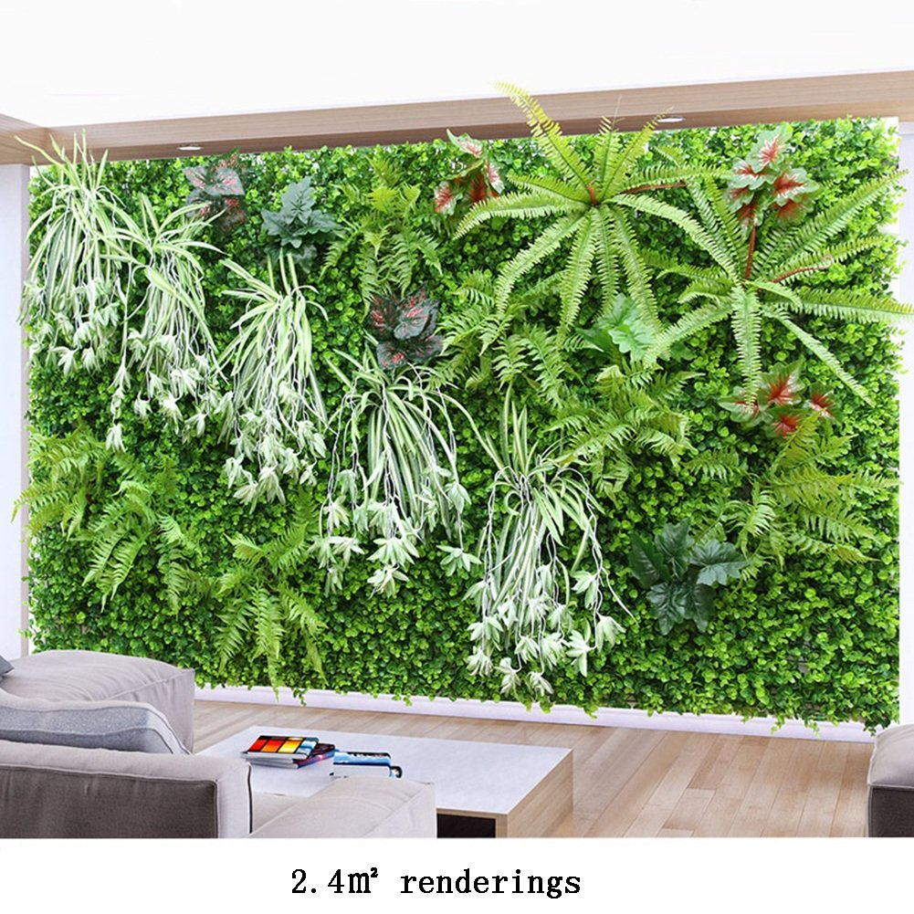 WENZHE 人工 フェイクアイビー 緑の植物のシミュレーション 壁掛け式 インドア アウトドア 背景壁 装飾品 暗号化 厚い 2つのスタイル、 2.4㎡ (色 : A) B07D9DCHGM  A