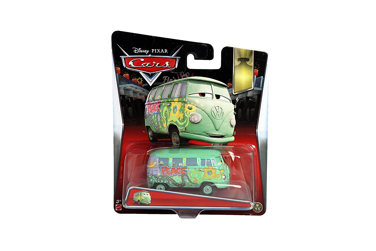 Disney//Pixar Cars Snot Rod with Flames Diecast Vehicle by Mattel