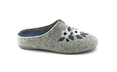 GRUNLAND Adri CI1383 Cenere Indaco grgio Ciabatte Pantofole Donna Fiori   Amazon.it  Scarpe e borse fe1f51c5fa0