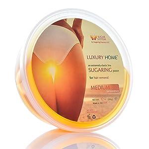 "Sugaring Paste ""Luxury HOME"" – MEDIUM all purpose paste - Organic Hair Removal - Long Lasting Sugar Wax"