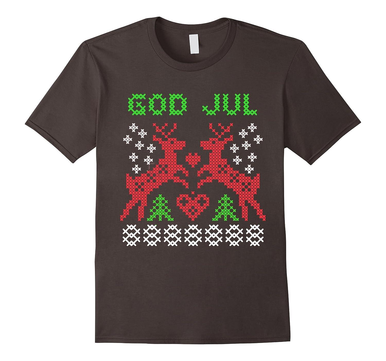 Nordic God Jul Merry Christmas Ugly XMAS Sweater look Shirt