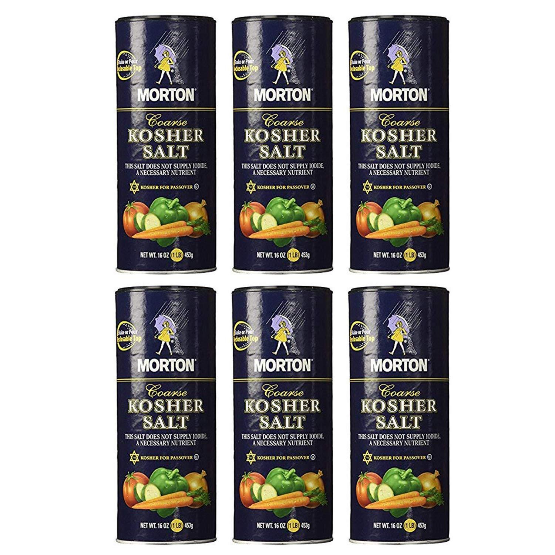 Morton Coarse Kosher Salt 16 oz. (Pack of 2) : Grocery & Gourmet Food