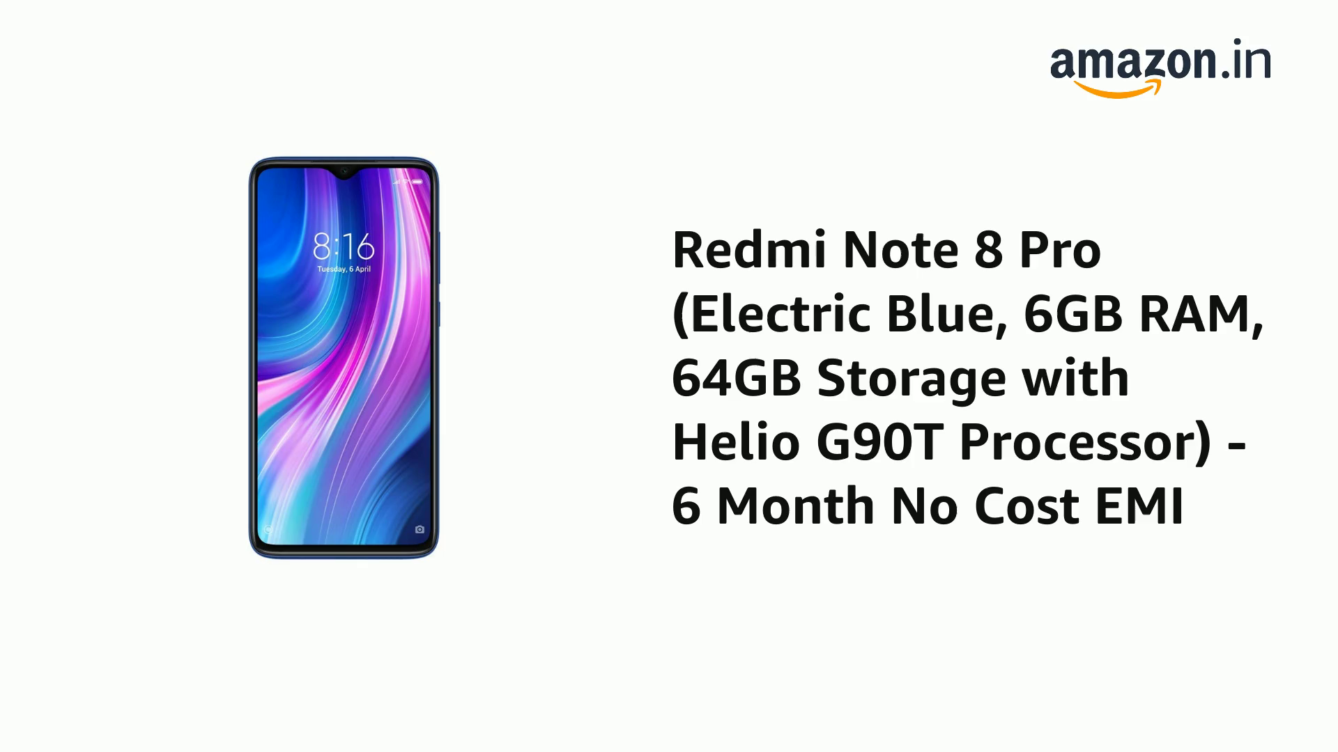 Redmi Note 8 Pro (Halo White, 8GB RAM, 128GB Storage with Helio G90T Processor)