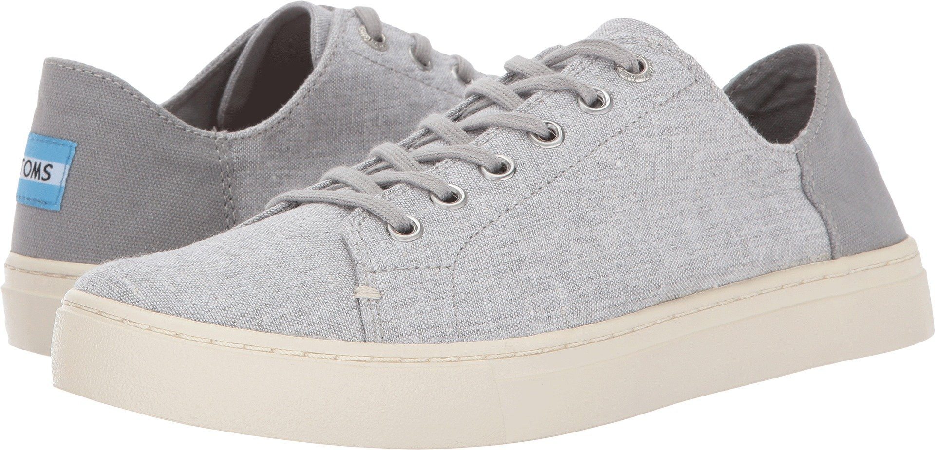 TOMS Women's Lenox Sneaker Drizzle Grey Slub Chambray Oxford