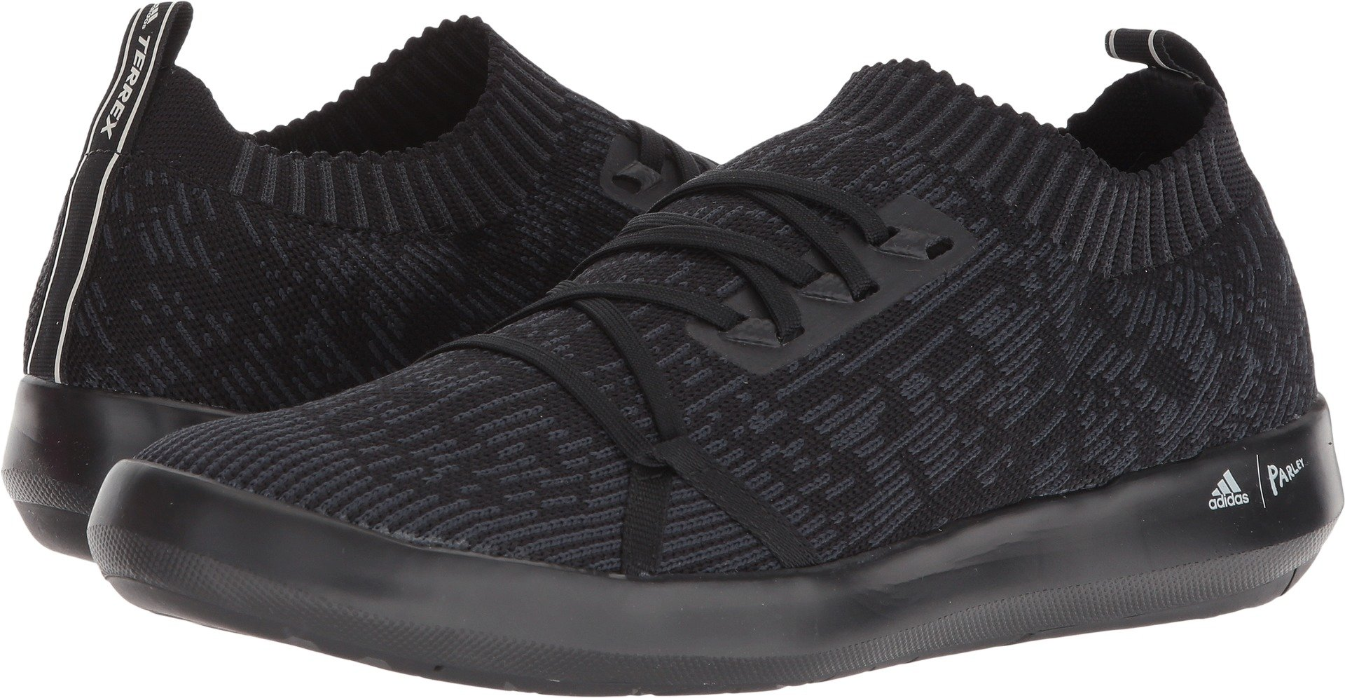 adidas outdoor Mens Terrex Boat DLX parley Shoe (10.5 - Black/Carbon/chalk