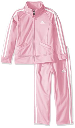 90fd1e25f029 Amazon.com  Adidas Girls  Tricot Zip Jacket and Pant Set  Clothing
