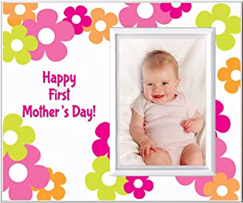 Amazoncom First Mothers Day Picture Frame Gift Holds 35 X 5