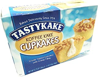 product image for Tastykake Creme Filled Koffee Kake Cupcakes | Philadelphia Coffee Cake Individually Wrapped Snack Cakes | 4 Family Boxes - SET OF 2