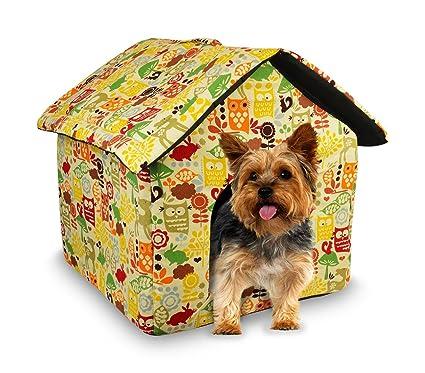901064 Cama para perros pequeños suave en forma de caseta