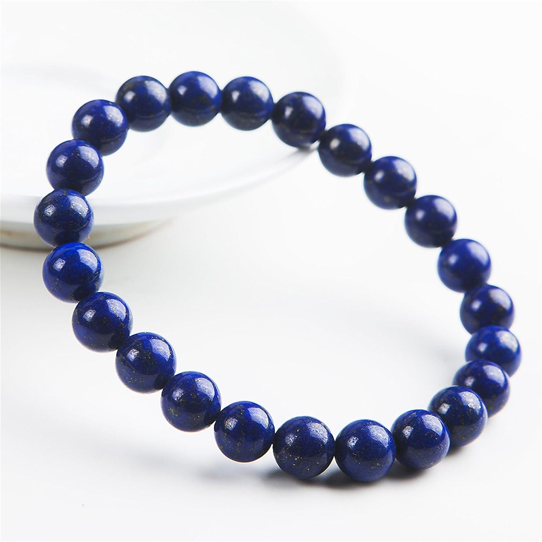 "99.00 Cts Natural 8/"" Long Blue Lapis Lazuli Round Shape Beads Bracelet JK 25E169"