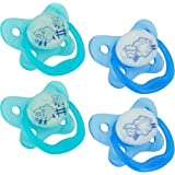 Dr. Brown's PreVent Contour Glow in the Dark Pacifier, Stage 1 (0-6m), Blue, 4-Count