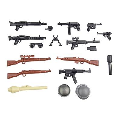 BrickArms Alemán Set de Armas V2, Battlepack Custom Armas para Figuras de Lego®: Juguetes y juegos