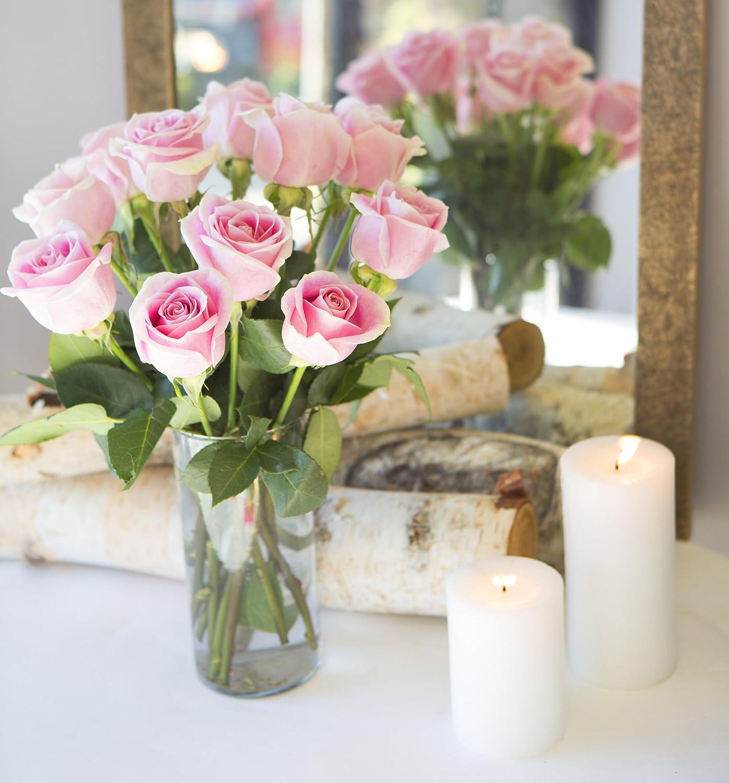 Amazon kabloom sweet pink bouquet of 12 fresh cut pink roses amazon kabloom sweet pink bouquet of 12 fresh cut pink roses long stemmed with vase grocery gourmet food izmirmasajfo