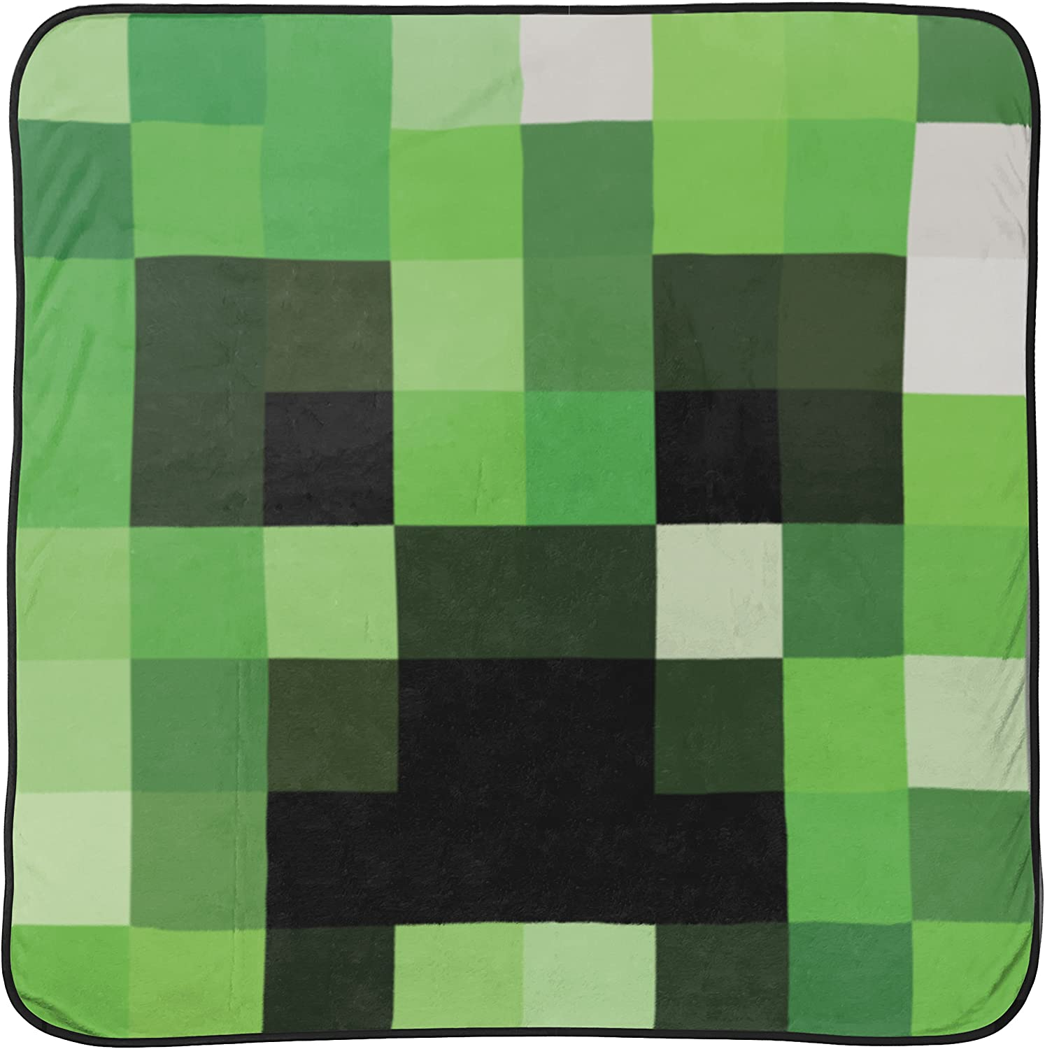 Jay Franco Mojang Minecraft Creeper Plush Throw Blanket