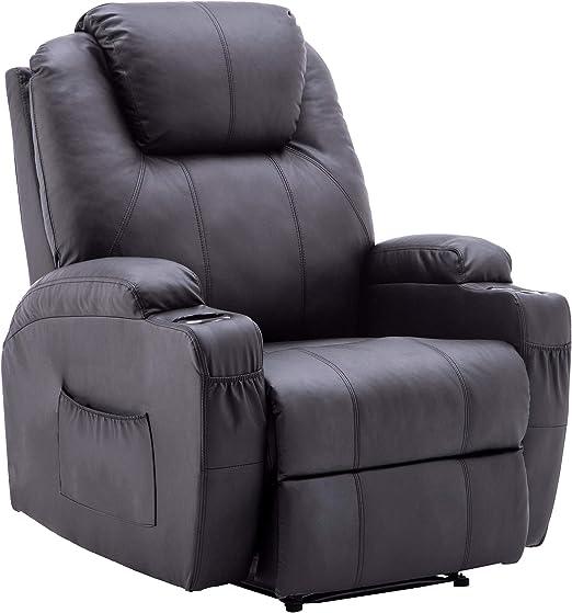 Amazon.com: Mcombo - Sofá reclinable eléctrico con masaje y ...