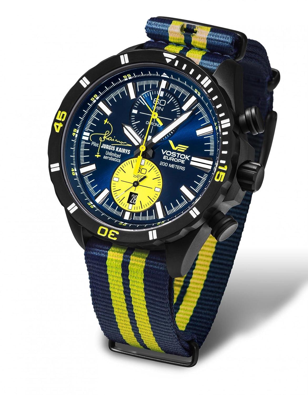 【世界限定500本】VOSTOK EUROPE (ボストーク ヨーロッパ) 世界NO1エアロバティックパイロット ユルギスカイリスモデル メンズ腕時計[正規輸入品] B01L8U0I0C