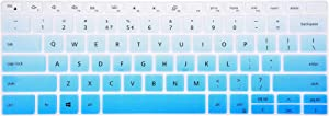 Leze - Ultra Thin Clear Keyboard Cover Compatible with 13.3'' New 2019 Dell XPS 13 7390 2-in-1 Laptop - Gradual Blue