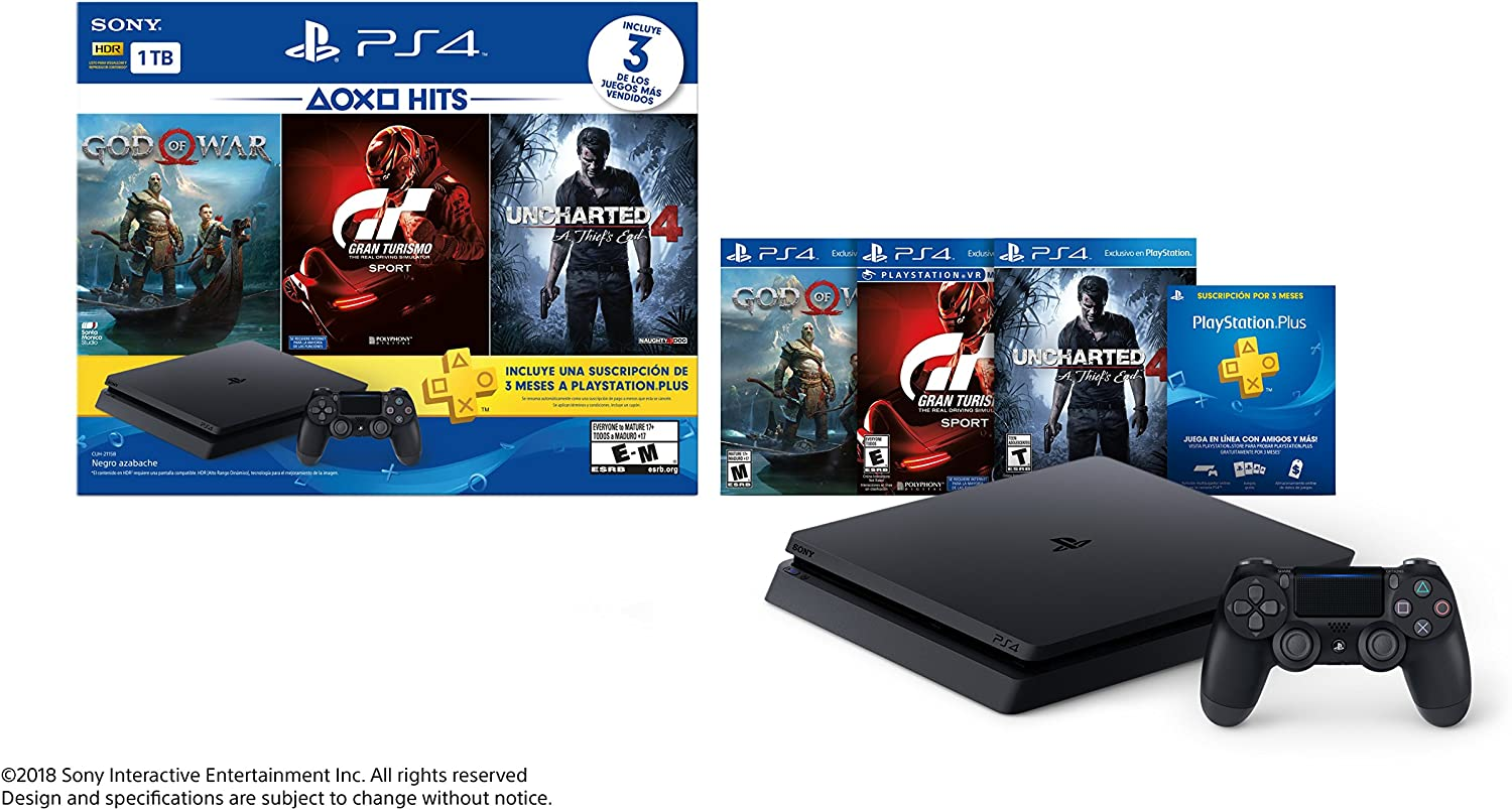Sony PlayStation 4 Slim (1 TB) PS4 golpea consola El paquete ...