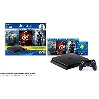 PlayStation 4 Hits Bundle, 1 TB, Paquete de 3 juegos: God of War, Uncharted 4, GTSport - Standard Edition