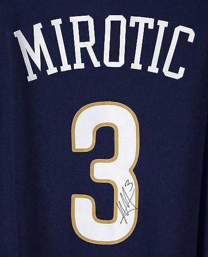 Nikola Mirotic New Orleans Pelicans Signed Autographed Blue  3 Jersey 3e3efc48e