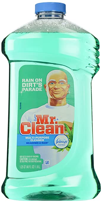 Mr. Clean Multi-Surfaces Liquid with Febreze Freshness Meadows and Rain, 40-Fluid Ounces