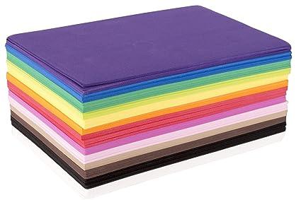 amazon com fibre craft foam sheets 5 1 2 inch by 8 1 2 inch 50