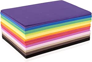 Fibre Craft Foam-Sheets 5-1/2-Inch-by-8-1/2-Inch, 50-Pack, Rainbow Colors