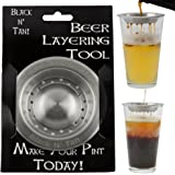 Beer Separator Black and Tan Stainless Steel Beer Layering Tool