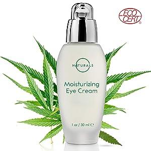 O Naturals Anti-Aging Hydrating & Moisturizing Hemp Seed Oil Eye Cream. Makeup Primer. Reduces Dark Circles, Bags, Puffiness, Fine Lines & Wrinkles Under Eyes. Hyaluronic Acid + Vitamin E. Organic 1Oz
