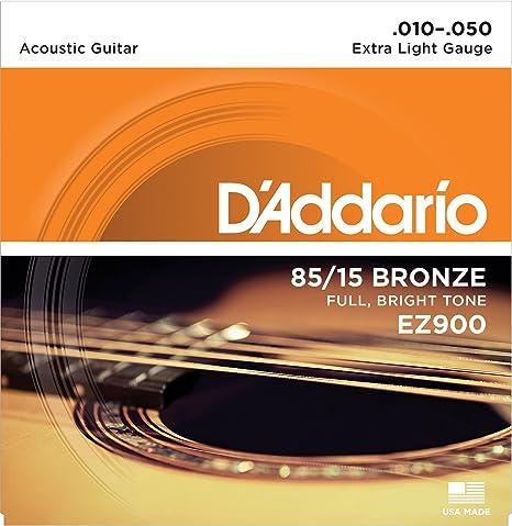 DAddario EZ900 - Juego de cuerdas para guitarra acústica de bronce, 010