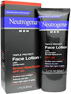 Neutrogena Men Triple Protect Face Lotion with Sunscreen SPF 20 1.70 oz (6 Pack)