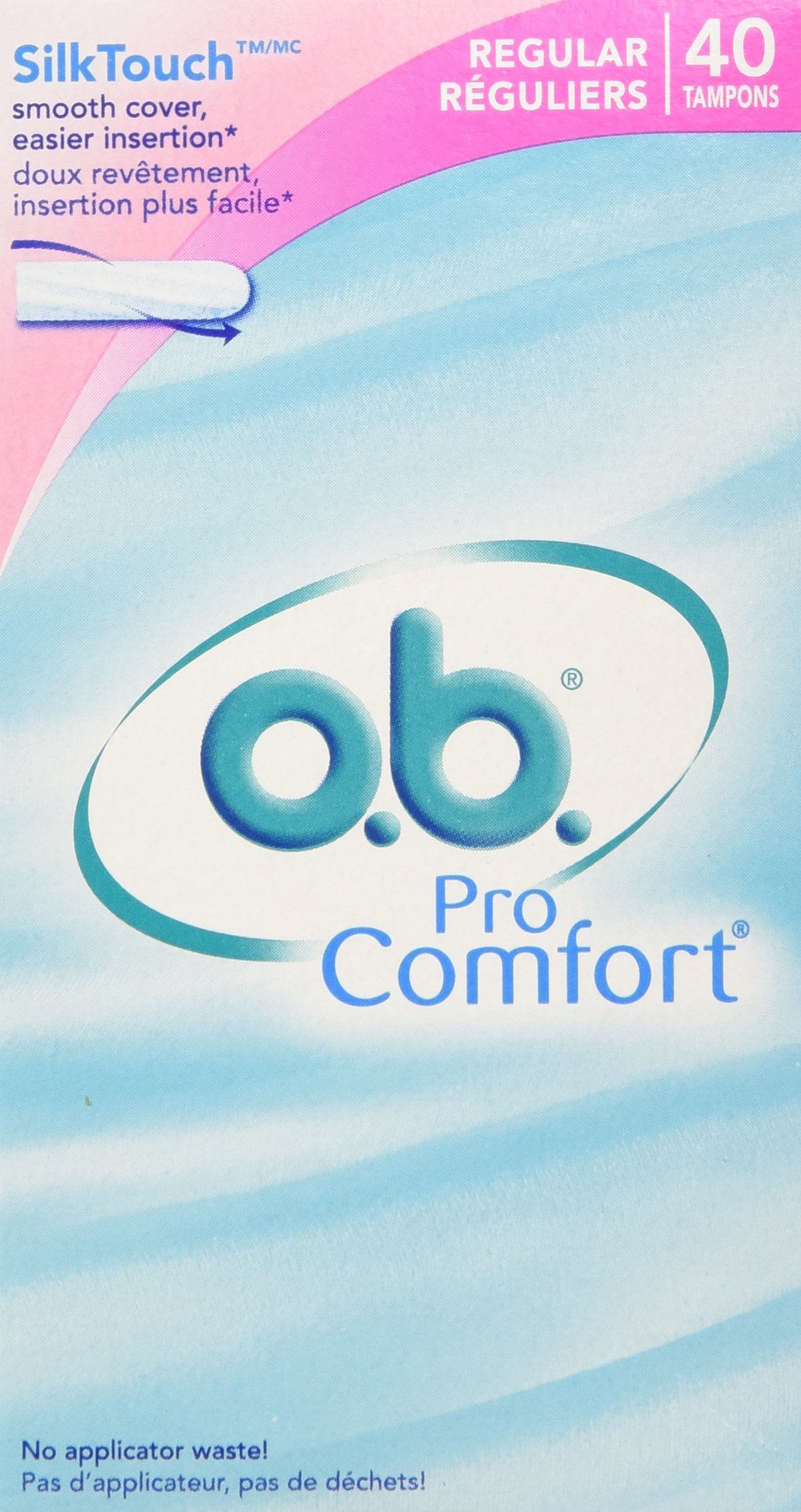 Ob Pro Comfort Tampons - Regular 40-Count Boxes (Pack of 3)