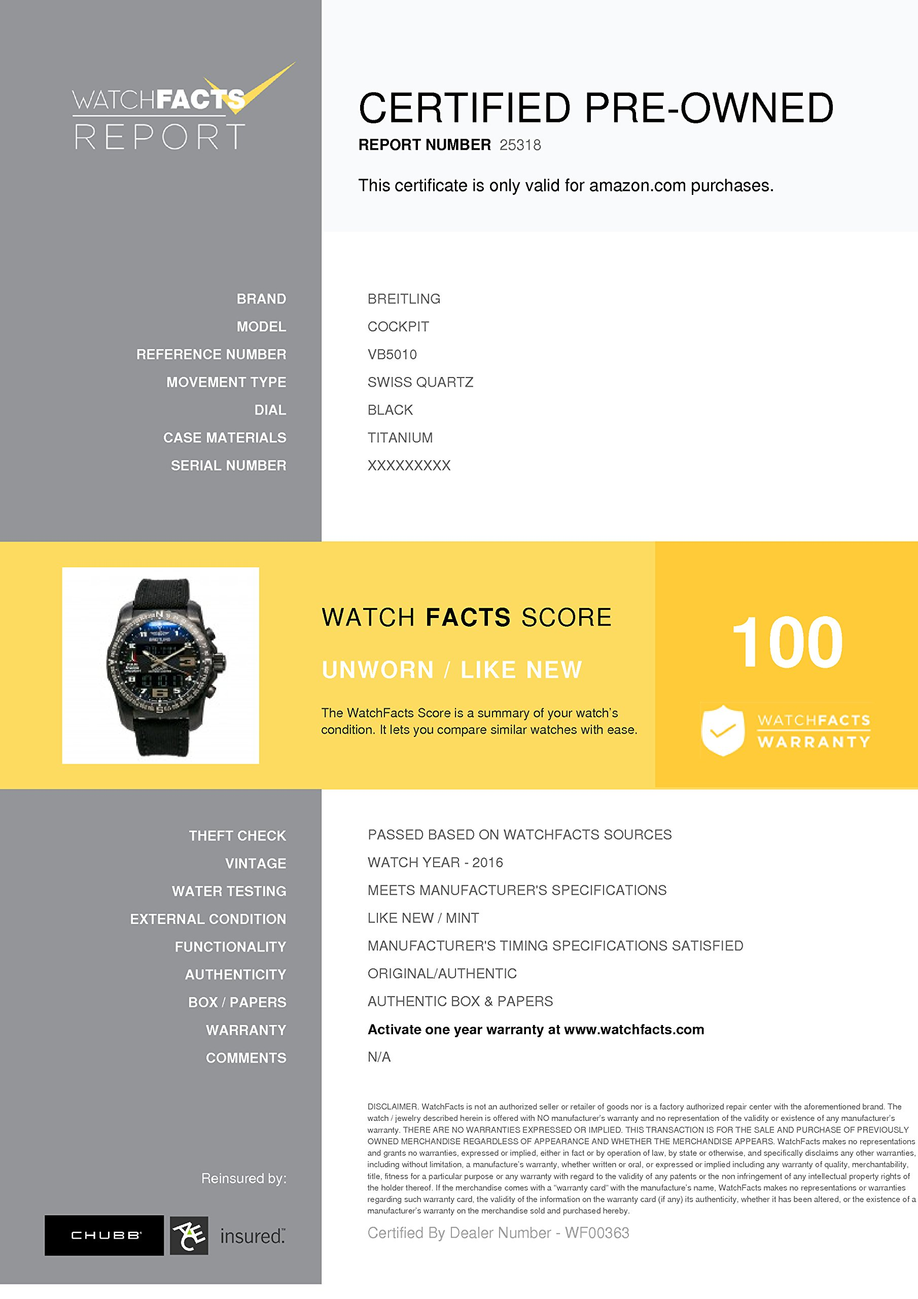 Breitling Cockpit swiss-quartz mens Watch VB5010 (Certified Pre-owned) by Breitling (Image #6)